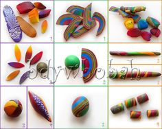 picture tutorial on how to make swirl beads... polym clayfimo, tutorials, bead making, twist bead, swirl bead, clay tutori, clay swirl, pictur tutori