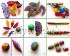 polym clayfimo, tutorials, bead making, twist bead, swirl bead, clay tutori, clay swirl, pictur tutori