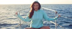 Item #7 a beautiful blue hoodie! Perfect for summer nights
