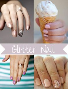 Sparkly Ring Finger, Glitter Nail Polish, Wedding Manicure