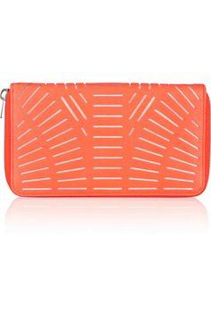 McQ Alexander McQueen | Cutout leather wallet