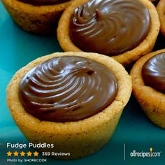 "Fudge Puddles | ""These are amazing!! I used a spoon to fill the cookie cups which made it very easy with little mess."""