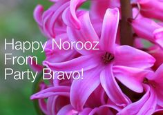 Happy Norooz from all of us at Party Bravo!