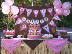 WESTERN COWGIRL Birthday Party