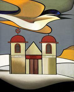 auction, houses, zealand artist, churches, don binney, 1963, ratana church, artist nz, nz artist
