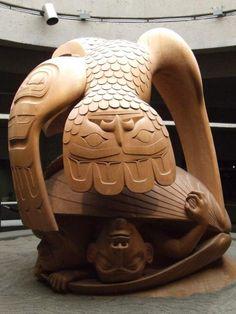 Haida carving...bill Reid in Vancouver airport