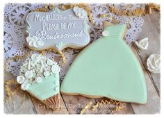 Will You Be My Bridesmaid Will You Be My Maid Of Honor, Decorated Wedding Party Cookies, Personalized, Flower Flower Girl Cookie Gift Boxes