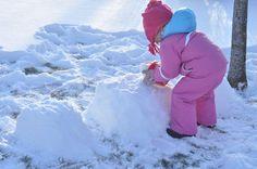 making snow furniture