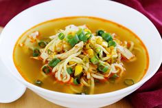 Just six ingredients is all you need for this speedy, budget-friendly Asian chicken noodle soup!