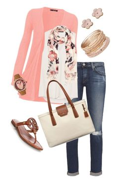 """Floral scarf outfit"