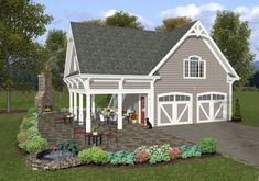 GARAGE HOUSE with porches