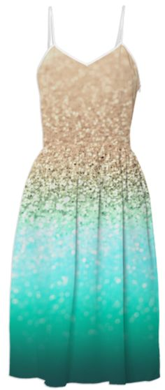 Oh it looks like the ocean I love it. I've had dreams of dresses like this!