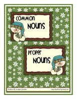 Common Nouns vs. Proper Nouns  FREE print out!