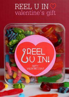 Adorable Reel U In Valentines Gift Idea with free print on { lilluna.com } #valentines