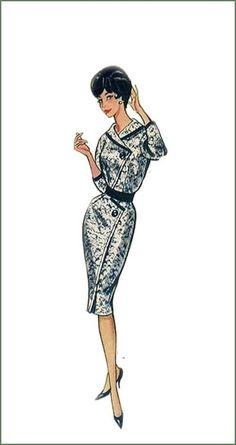 1960's fashion illustration #vintage #illustration #1960's