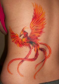 colorful #phoenix #tattoo