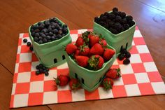 Make a berry basket cake.  LOVE this!!