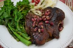 Duck Breasts with Pomegranate Sauce  #WeekdaySupper #RecipeOfTheDay