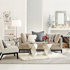 Really like the mirror tables.  Need something similar for my mid/ living room.