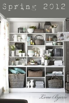 shelving, grey, baskets... pretty much everything
