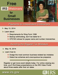 Free IRS Webminars for small businesses