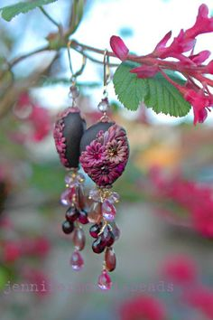 reserved for terri  valrhona  lush gemstone by jennifermorrisbeads
