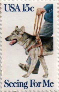 US postage stamp, 15 cent.  Seeing For Me.  Issued 1979.  Scott catalog 1787.