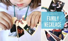DIY Family Necklace craft from moomah -- helps make back to school easier for your little kids.