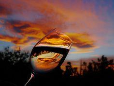 Toasting Sunset #wine