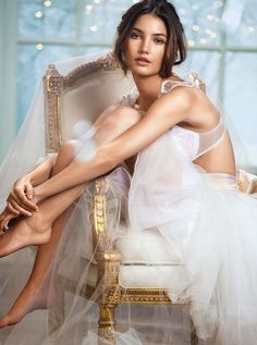 Lily Aldridge for Victoria's Secret Lingerie, October 2013