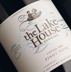 bottl, lake houses, wine packaging, hous wine, wine labels, lakehous, drink, lakes, the lake house