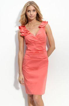 coral. Bridesmaids dress