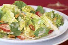Festive Strawberry-Nut Salad recipe