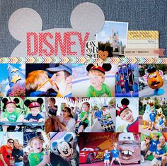 Disney {Studio Calico MAY Kit} - Scrapbook.com Good idea for misc. leftover pictures and a pocket for maps and tickets or a coverpage