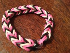 Rainbow loom fishtail rubber band bracelet