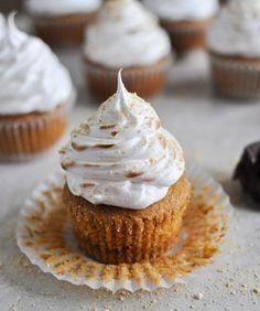 Pumpkin S'mores Cupcakes.