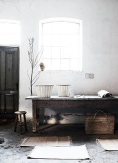 Rustic interior design.