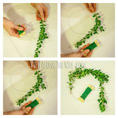 Follow this tutorial to make a fresh boxwood wreath from wire hangers! (@Kelly at View Along the Way)