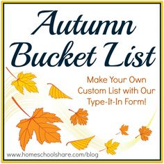 Make Your Own Fall Bucket List!