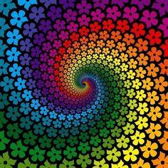 colour spiral, art, daisi, color wheels, flower power, color spiral, rainbow colors, flower rainbow, color swirl