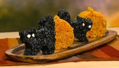 the chew   Recipe    Halloween Marshmallow Treats