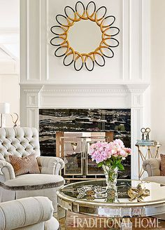 Reflections~ Modern and Sophisticated, Yet Warm and Inviting - Traditional Home® #interiors #design