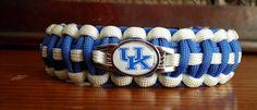 University of Kentucky Wildcats  - college paracord bracelet with school colors