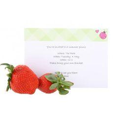 Ladybird themed, personalised printable, birthday invitations. www.rockpaperstickers.co.uk