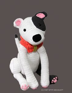 Crochet pattern for Staffordshire Bull Terrier, American Staffordshire Terrier, Pit Bull Terrier on Etsy, $7.48  #Bull #Terrier #Mini #Pup #Puppy #Dog #Dogs #Terriers #Pets #Cute #Funny #Art #Creative