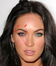 Megan Fox perfectly shaped eye brows ♥