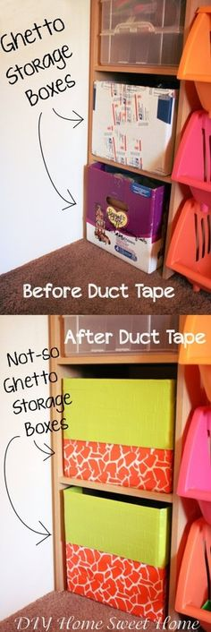 """Now that my """"getto"""" boxes have been flooded, may try duct Tape Boxes"""