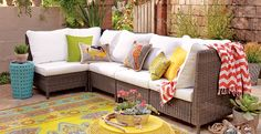 Shop the Look: Eclectic Coastal with Cost Plus World Market #WorldMarket Outdoor Entertaining, Outdoor Decor Tips
