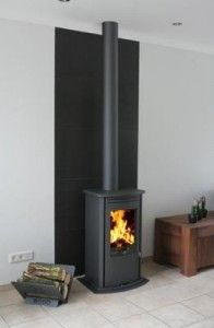 Openhaard on pinterest fireplaces tree trunk table and white