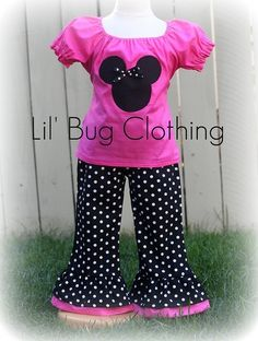 Custom Boutique Clothing Minnie Mouse Pink by LilBugsClothing, $45.00